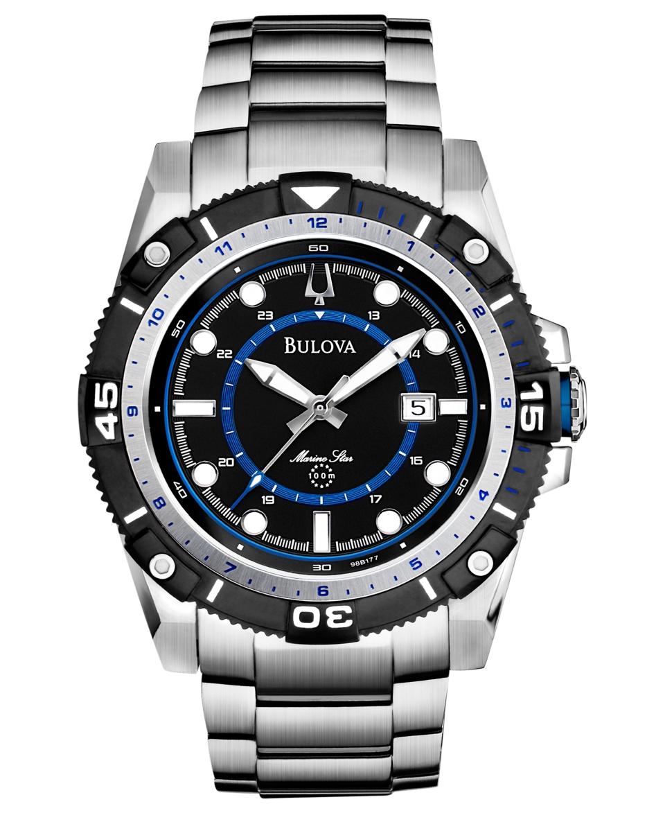 Bulova Mens Marine Star Stainless Steel Bracelet Watch 44mm 98B177   Watches   Jewelry & Watches