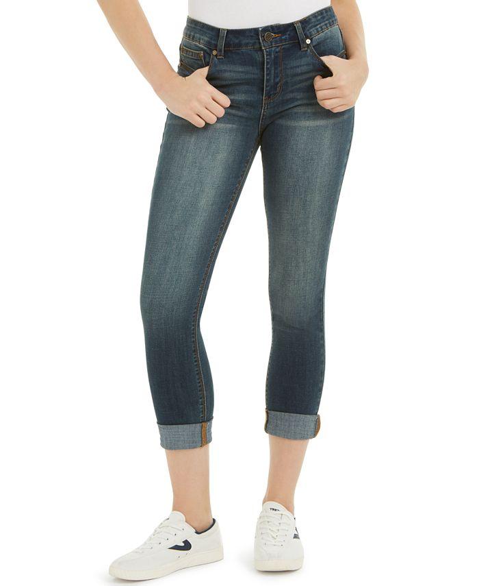 Indigo Rein - Juniors' Cuffed Cropped Skinny Jeans