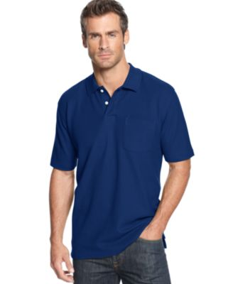 Image of John Ashford Short Sleeve Pocket Pique Polo Shirt