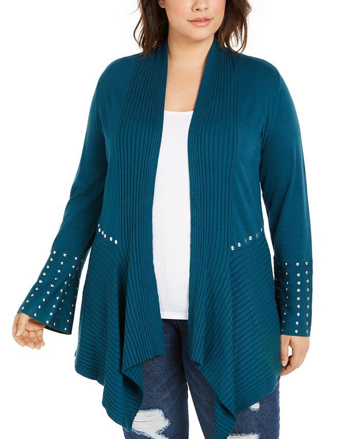 INC International Concepts - Plus Size Studded Cardigan Sweater