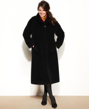 Jones New York Plus Size Wool-Alpaca-Blend Maxi Walker Coat