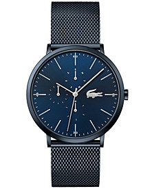 Lacoste Men's Swiss Moon Blue Stainless Steel Mesh Bracelet Watch 40mm