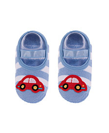 Nwalks Baby Boys and Girls Anti-Slip Cotton Socks with Car Applique