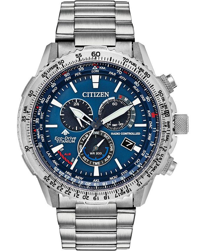 Citizen - Men's Chronograph Promaster Air Titanium Bracelet Watch 46mm