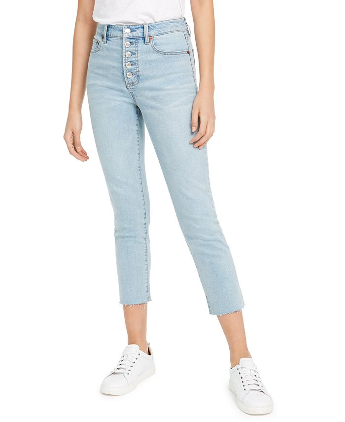 OAT - Button-Fly Cropped Jeans