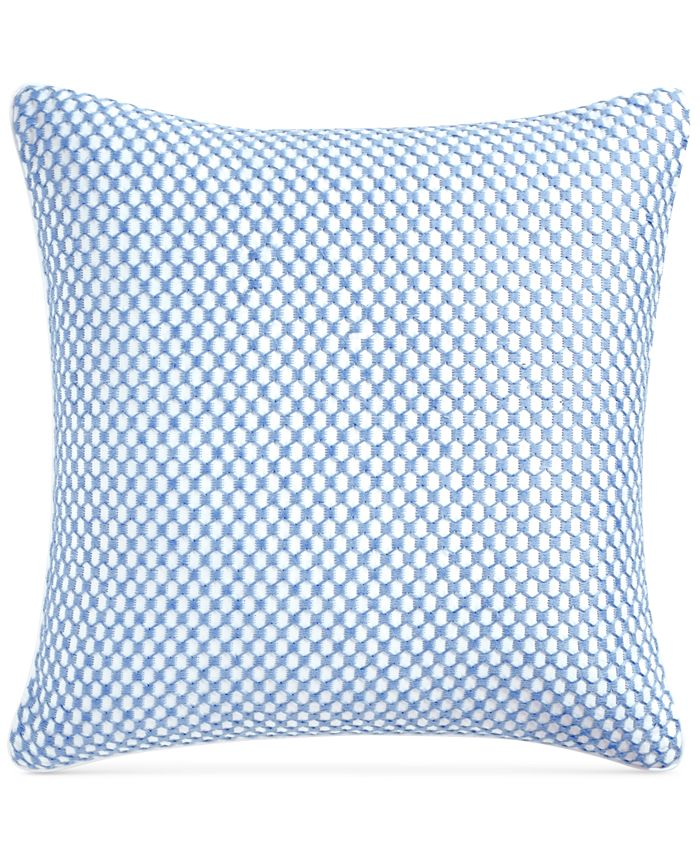 """Charter Club - Embroidered Geometric 210-Thread Count 18"""" x 18"""" Decorative Pillow"""