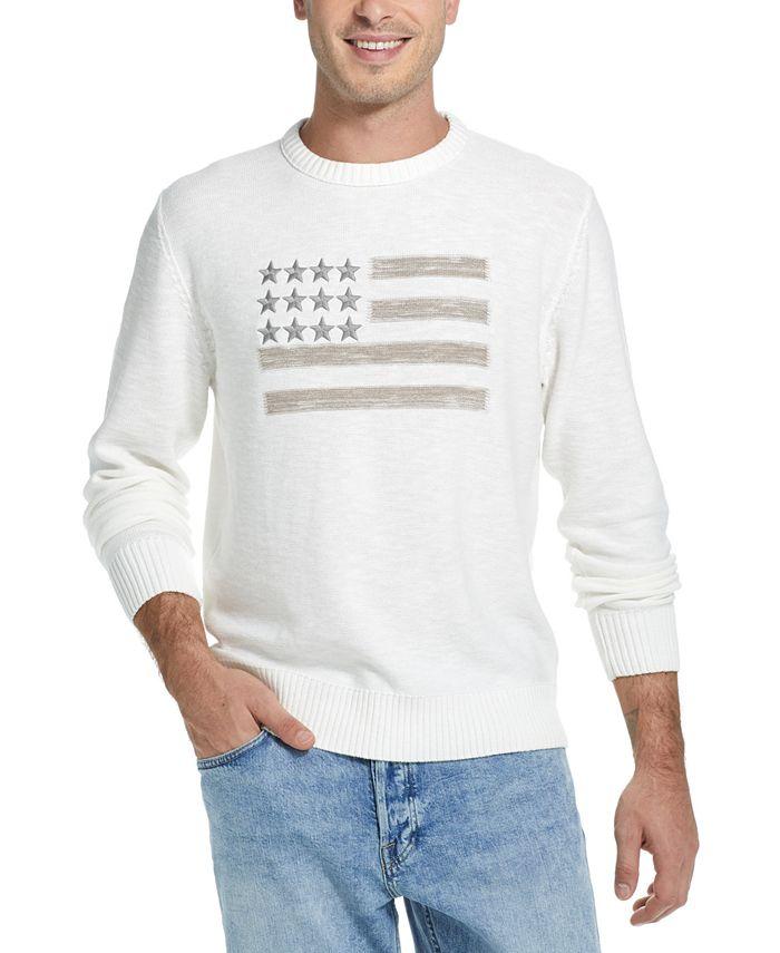 Weatherproof Vintage - Men's Embroidered Flag Sweater