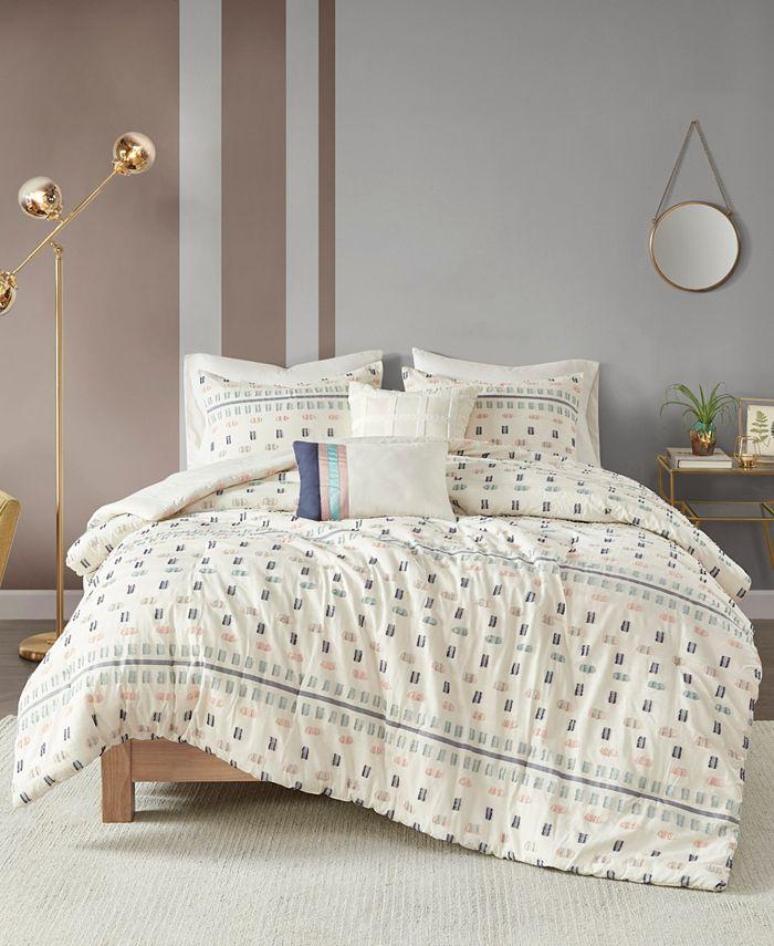 Urban Habitat - Auden 5 Piece Full/Queen Cotton Jacquard Comforter Set
