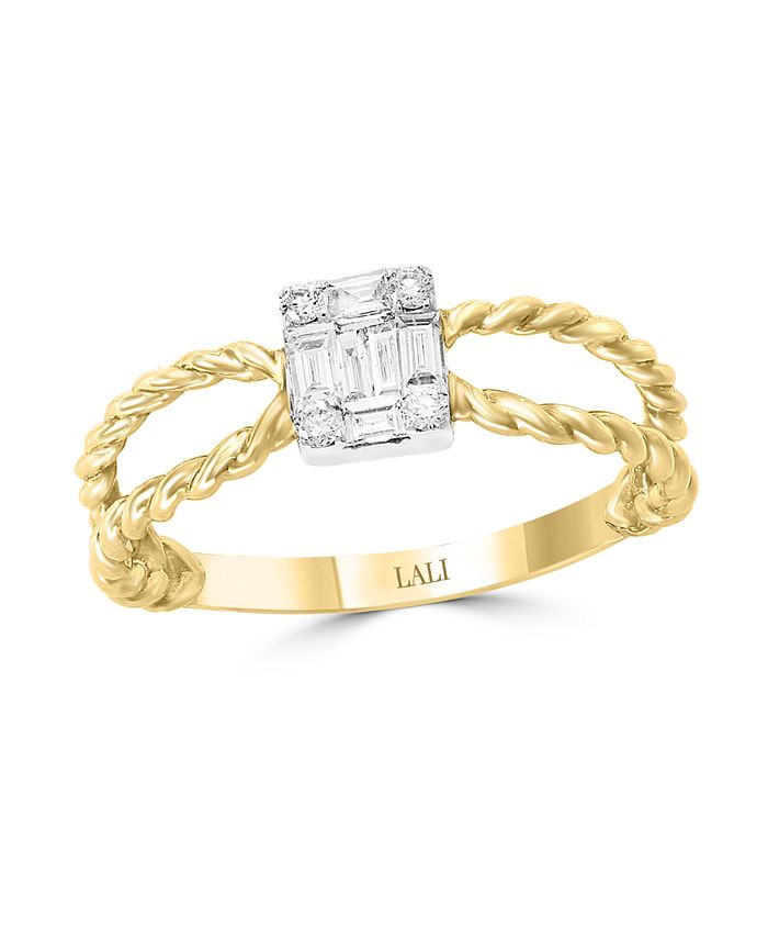 LALI Jewels - Diamond (1/5 ct. t.w.) Ring in 14K Yellow and White Gold