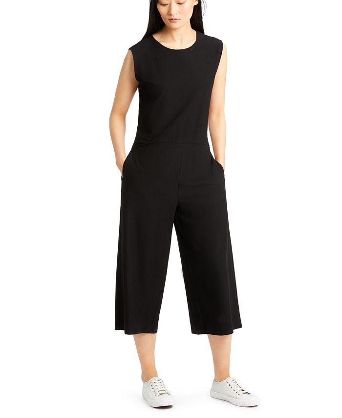 Eileen Fisher - Cropped Wide-Leg Jumpsuit