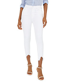 Ankle Skinny with Wave Hem Jeans