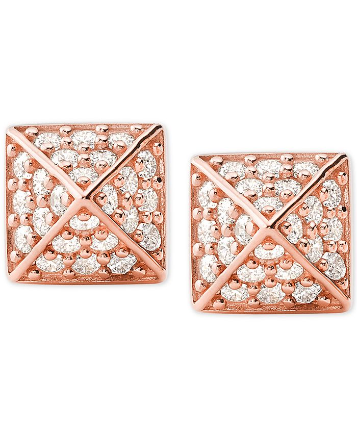 Michael Kors - Cubic Zirconia Square Stud Earrings