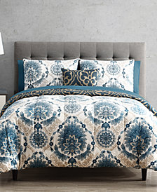 Scroll Medallion 12-Pc. Reversible Comforter Set