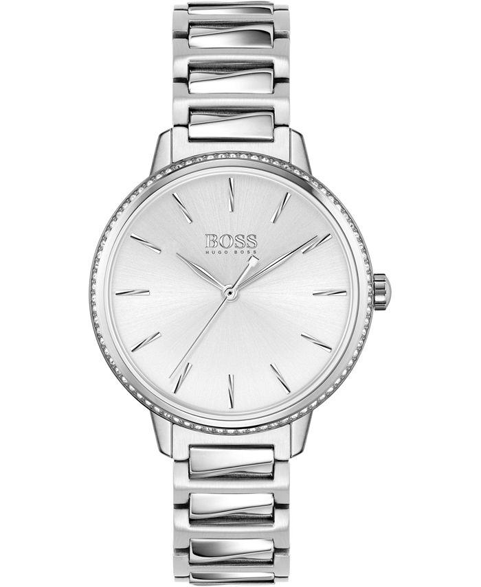 BOSS - Women's Signature Stainless Steel Bracelet Watch 34mm