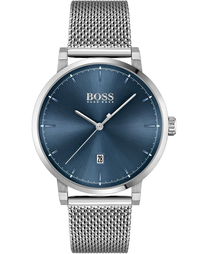BOSS - Men's Stainless Steel Mesh Bracelet Watch 42mm