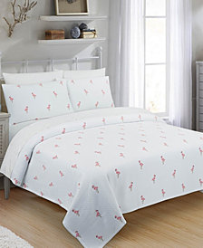 Flamingo Twin Coverlet