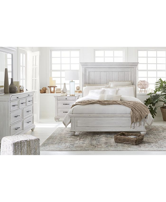 Furniture Quincy Bedroom Furniture 3 Pc Set King Bed Nightstand Chest Created For Macy S Reviews Furniture Macy S