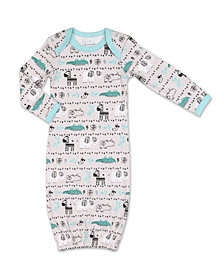 The Peanutshell Baby Boy Safari Story Animal Print Sleep Gown