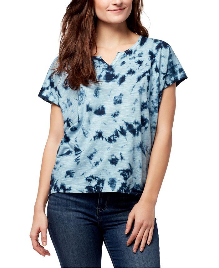 WILLIAM RAST - Tie-Dye Split-Neck T-Shirt
