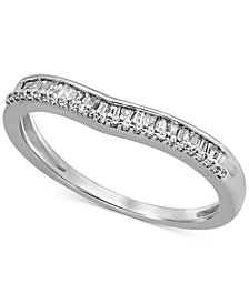 Diamond Baguette Wavy Band (1/6 ct. t.w.) in 14k White Gold