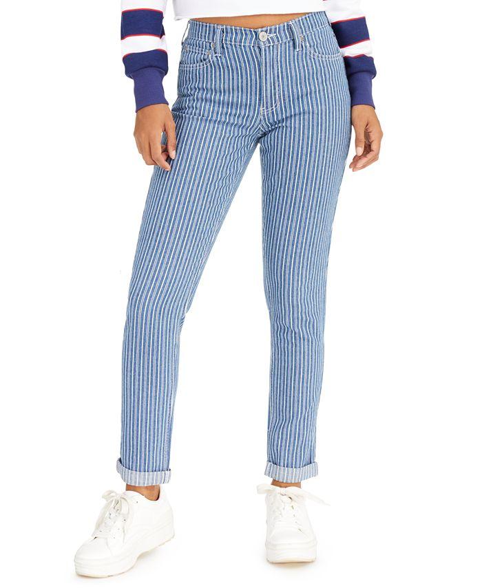 Dickies - Striped Skinny-Fit Cuffed Jeans