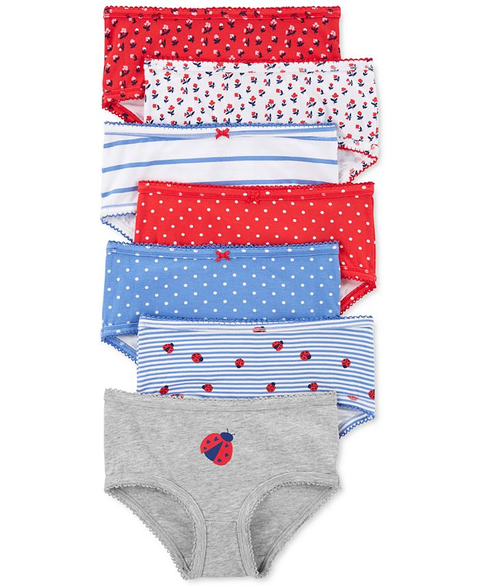Carter's - Little & Big Girls 7-Pk. Ladybug Underwear