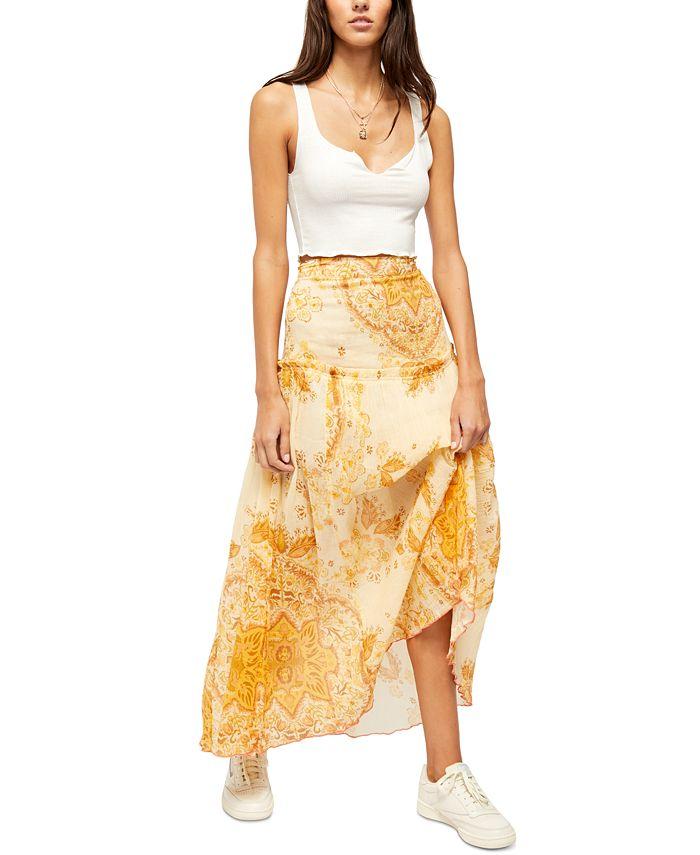 Free People - Farrah Cotton Drop-Waist Skirt