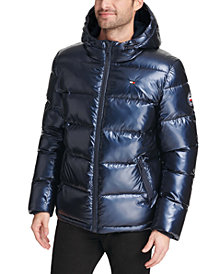 Tommy Hilfiger Men's Pearlized Performance Hooded Puffer Coat