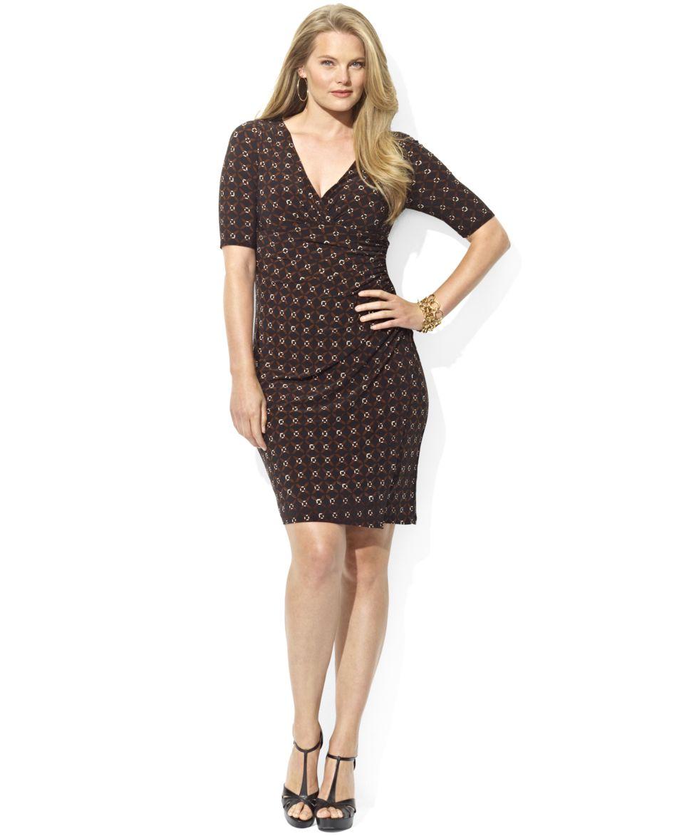 Lauren Ralph Lauren Plus Size Dress, Three Quarter Sleeve ...