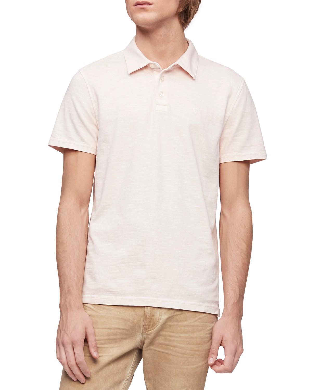 Calvin Klein Jeans Calvin Klein Men's Short Sleeve Monogram Slub Polo