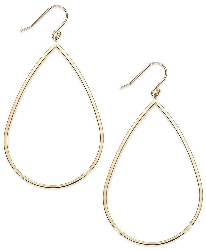 Macy's - 14k Gold Vermeil Earrings, Teardrop Dangle Earrings