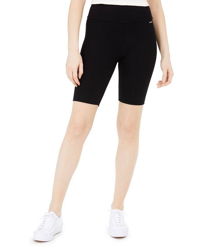 Calvin Klein Jeans - High-Waist Ribbed Bike Shorts