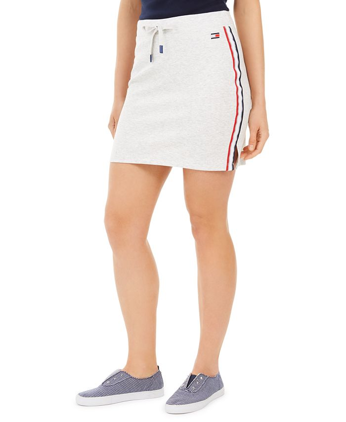 Tommy Hilfiger - Tommy Hilfiger Logo Side-Stripe Skirt