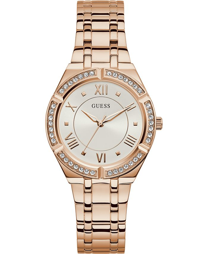 GUESS - Women's Rose Gold-Tone Stainless Steel Bracelet Watch 36mm