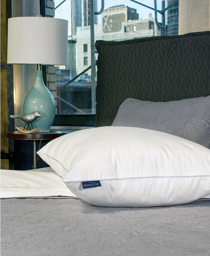 SensorGel - Arctic Nights 10x Cooler Supportive Fiber Jumbo Bed Pillow Powered by REACTEX