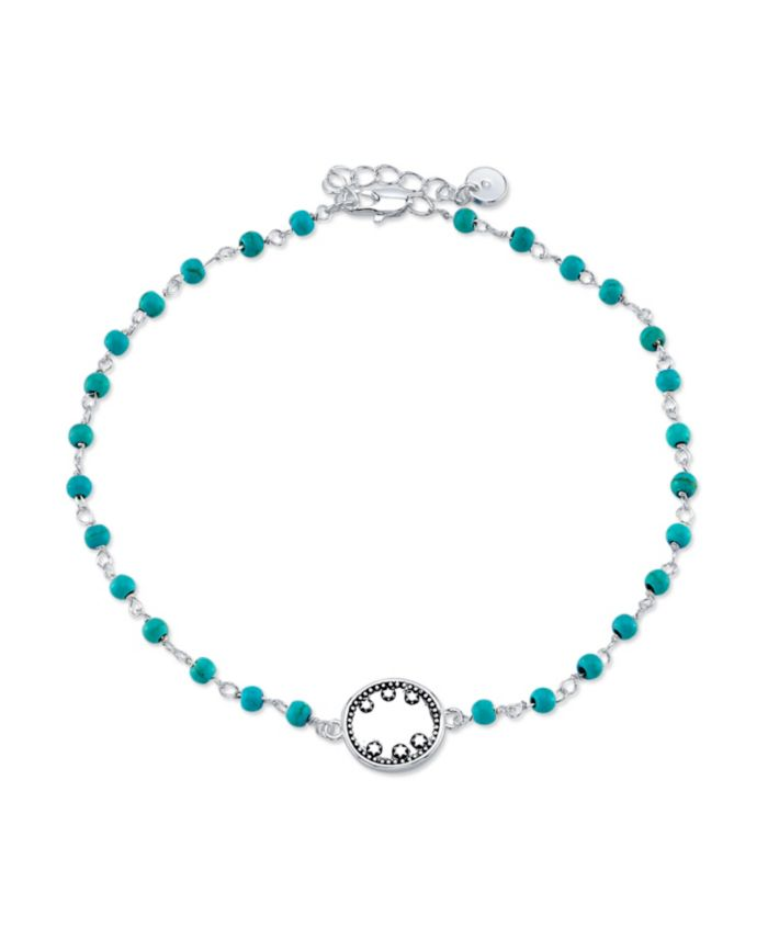 Unwritten Silver Plated Station Sand Dollar Anklet & Reviews - Bracelets - Jewelry & Watches - Macy's