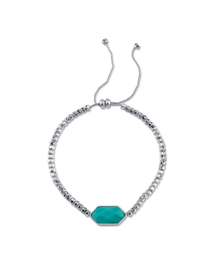 Unwritten Fine Silver Plated Genuine Stone Adjustable Bolo Bracelet & Reviews - Bracelets - Jewelry & Watches - Macy's