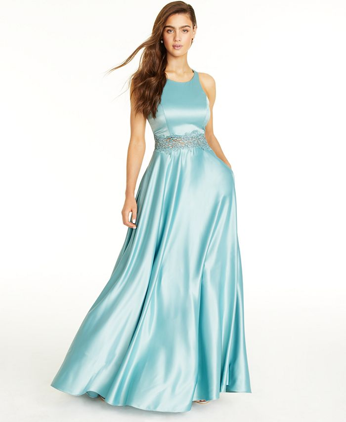City Studios - Juniors' Embellished Ball Gown