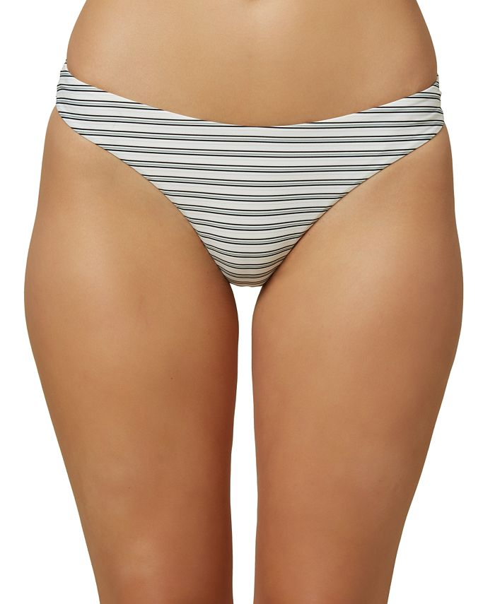 O'Neill - Juniors' Raven Stripe Bikini Bottoms