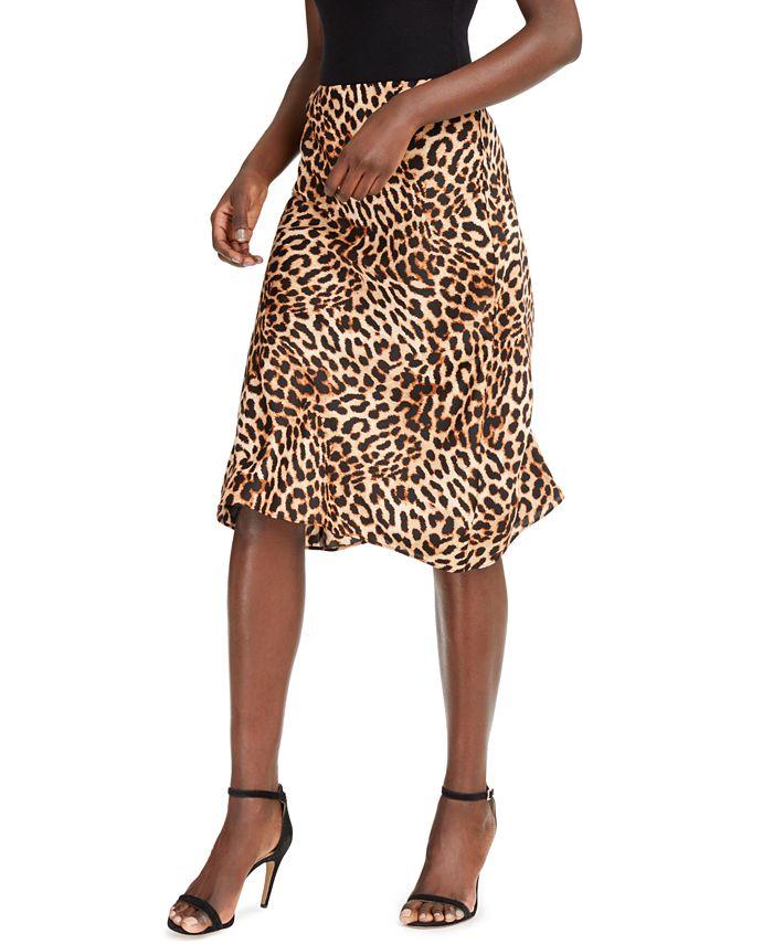 INC International Concepts - Leopard Midi Skirt