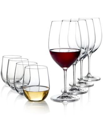 Riedel Vinum Cabernet and O Chardonnay Wine Glasses 8 Piece Value Set