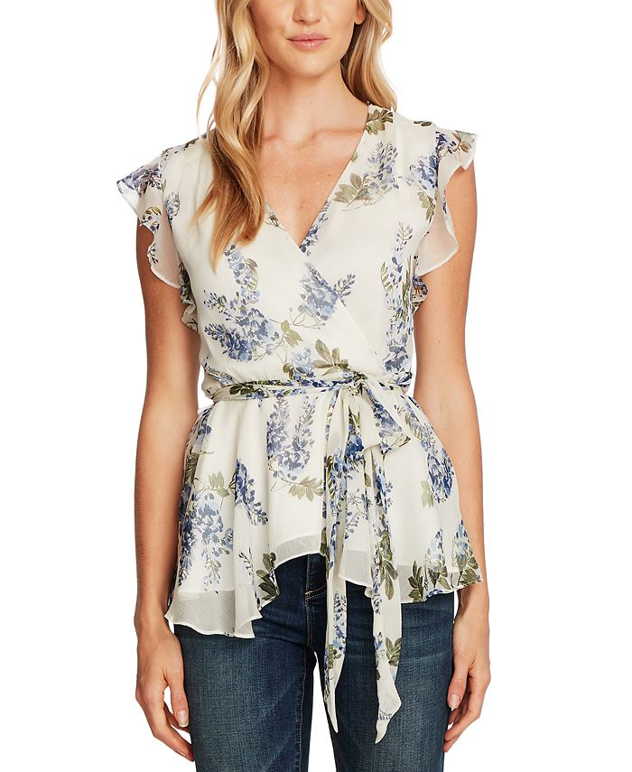 Vince Camuto - Printed Ruffled Top