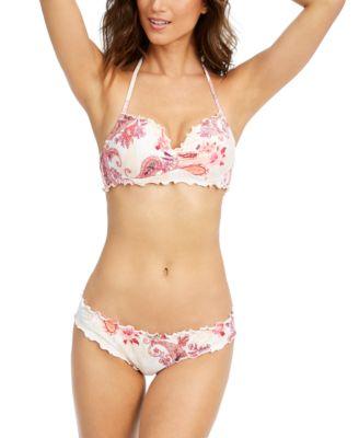 Nixie Printed Ruffled Underwire Bikini Top, Created for Macy's