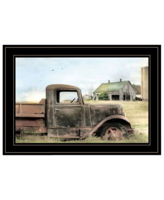 Vintage-Like Farm Trucks I by Lori Deiter, Ready to hang Framed Print, White Frame, 15