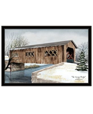 The Kissing Bridge by Billy Jacobs, Ready to hang Framed Print, White Frame, 27
