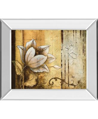 Exotic on Gold I by Patty Q Mirror Framed Print Wall Art, 22