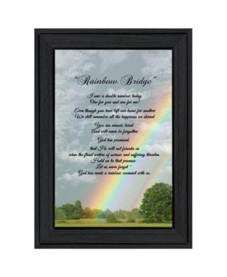 Rainbow Bridge by Trendy Décor 4U, Ready to hang Framed Print, White Frame, 11
