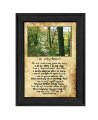 In Loving Memory By Trendy Decor4U, Printed Wall Art, Ready to hang, Black Frame, 14