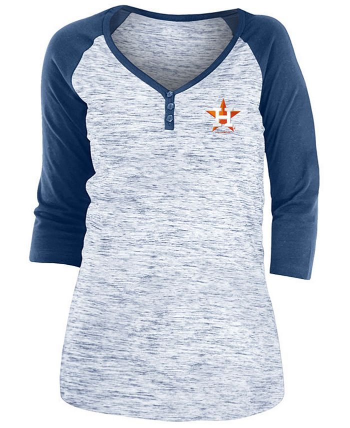 5th & Ocean - Houston Astros Women's Space Dye Raglan Shirt