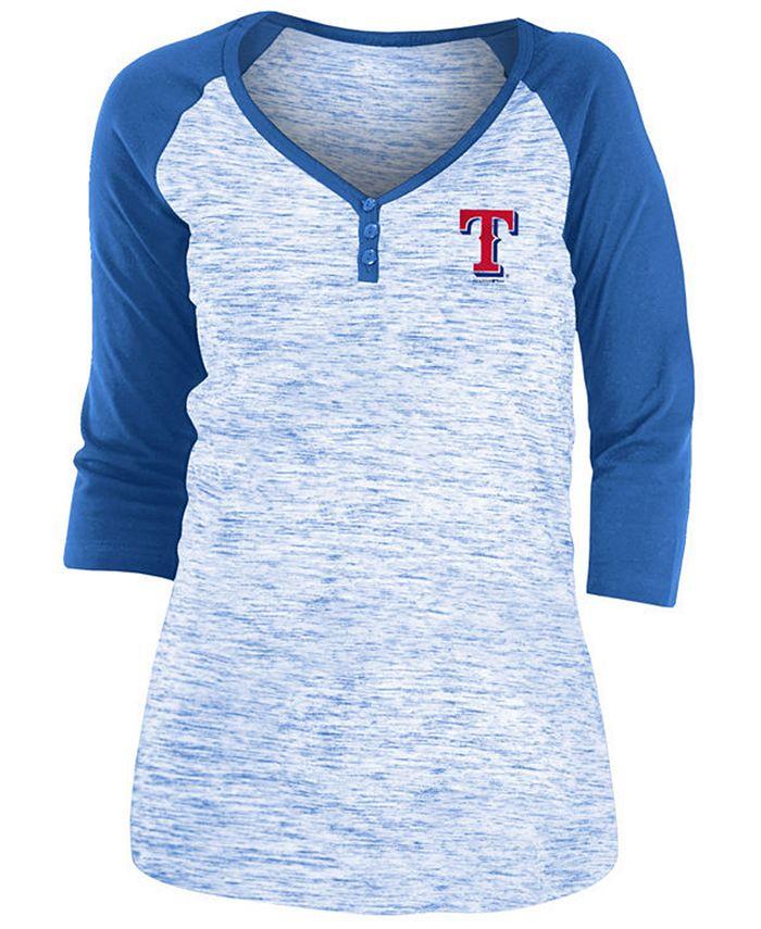 5th & Ocean - Texas Rangers Women's Space Dye Raglan Shirt